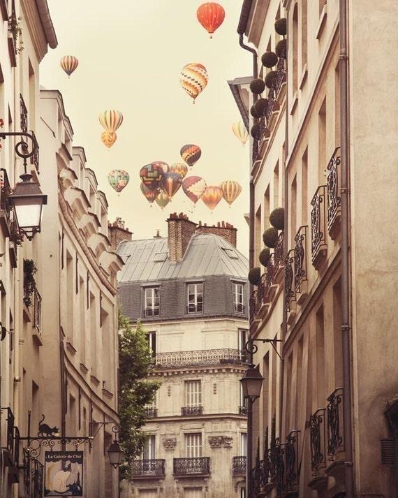Hot Air Balloons Paris Photography Paris Wall Art Large