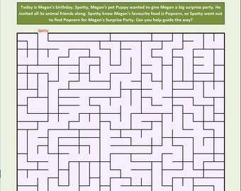 Unlimited Maze with Customized Story - printables
