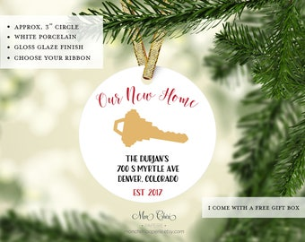 Our New House Annoucement Ornament | Homeowners Key Ornament | Christmas Ornament | Christmas Gift | New Home Christmas | Housewarming
