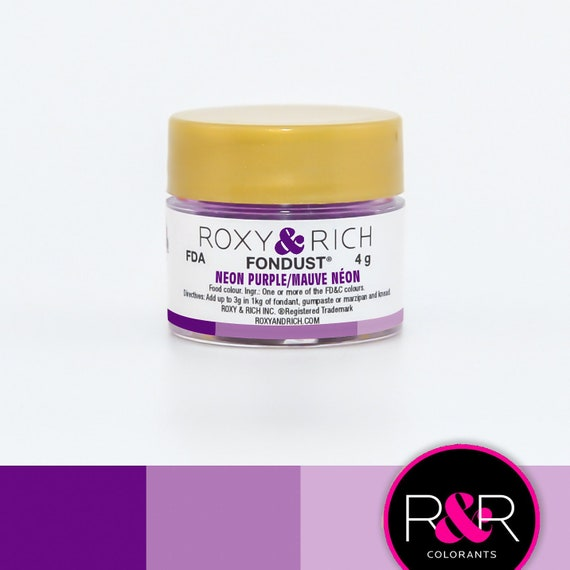 Roxy and Rich Fondust- Neon Purple 4g | Edible Purple Dust ...