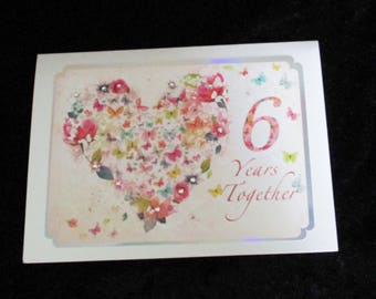 Anniversary Wedding Card, 7th Anniversary Card, Cards for Wives, Cards for Husbands, Daughter and Husband, Son and Wife, Any Aged Couples,
