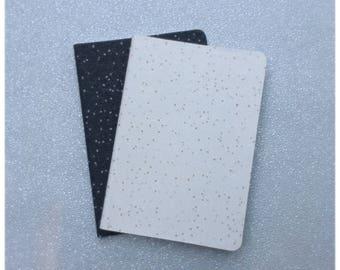 Glittered Spotty Notebooks Set of 2