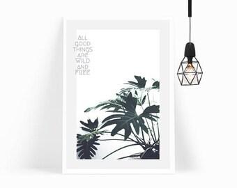 Wall Art,Poster,Prints,Home Decor,Office Decor,Art Print,Gift,Quote,Modern Art,Leaves,Framed Art,Plant,Living Room Decor,Monstera,Botanical