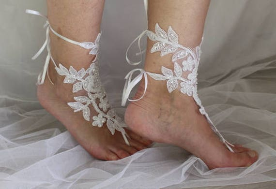 jewelry dress shoes N sandals sandals lace prom shoes wedding white barefoot wedding summer accessories foot Beaded 3A q4wPn6B