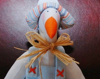 Tilda goose toy, Spring decoration - handmade