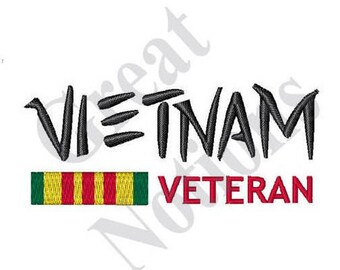 Vietnam Veteran - Machine Embroidery Design
