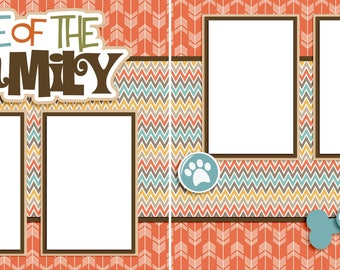 One of the Family Dog - Digital Scrapbooking Quick Pages - INSTANT DOWNLOAD
