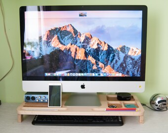Monitor stand & desk  organiser 2in1