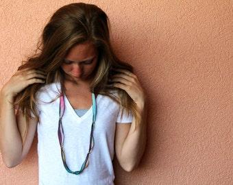 silk ribbon bracelet / headband / necklace / anklet (plum pretty) LAST ONE