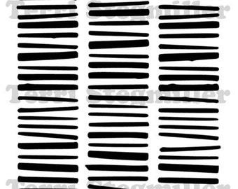 "Bars 6x6"" Stencil"