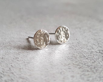 Hammered Circle Stud Earrings - Circle Stud Earrings - Hammered Stud Earrings - Hammered Studs -Circle Studs - Stud Earrings - Studs