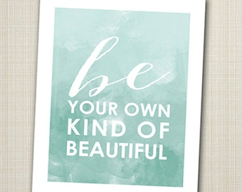 be your own kind of beautiful 8x10 children's art print