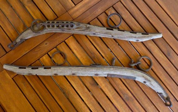 Antique Horse Yoke Pair ~ Horse Hames ~ Wood Metal Cast Iron ~ Home Decor ~ Rustic Farmhouse To Minimalist Decor