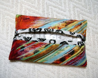 Pocket Tissue Holder - Tissue - Kleenex Holder - Tissue Holder - Cotton Fabric - Flower Fabric - TC241