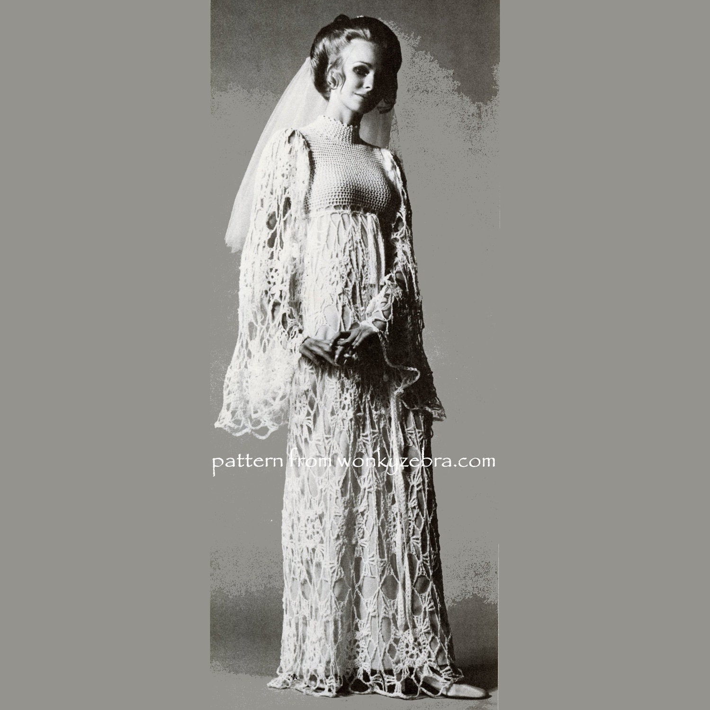 Crochet dress pattern pdf 174 vogue wedding dress from zoom junglespirit Images