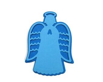 Angel Die Cut Set of 24 (2 of each design) 2.75 inch tall