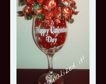 Any Occasion Strawberry Bon Bons and Sour Cherries Wine Glass Bouquet