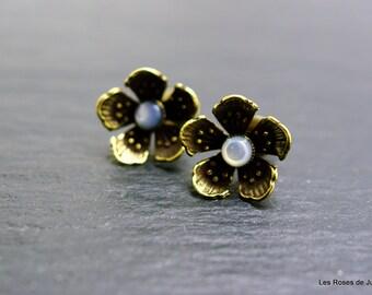 Art deco earrings Flower Earrings