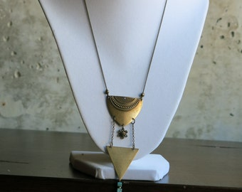Triangular Gold Necklace