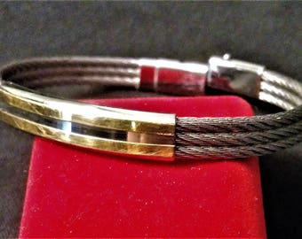 French Men's Bracelet (steel and gold)