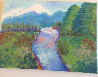 Mountain scene painting