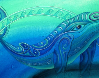 Whale- Print of original painting