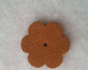 flowers 3cm leather