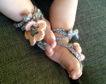 Barefoot Baby Flower Sandals