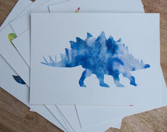 Watercolor Stegosaurus Print