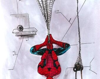Spider-Man, signed by Mast (Marvel Comics Artist)
