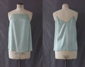 Versatile mint green silk camisole | 1990's by Cubevintage | small to medium