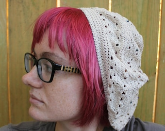 Beaded Crochet Slouchy Hat