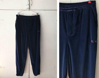 90s ri:kors velour pants   vintage track pants   mens velour sweatpants