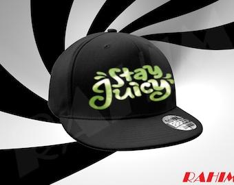 Guava Juice Stay Juicy Green Chrome logo limited  ,Snapback, Baseball cap