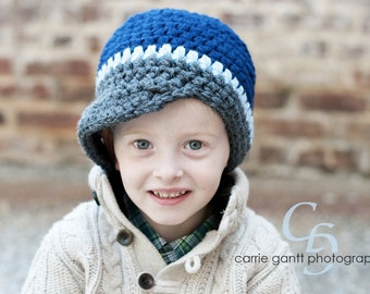 PATTERN:  Newbie Newsie hat, easy crochet InStAnT DoWnLoAd, Sizes newborn to Toddler, Permission to Sell