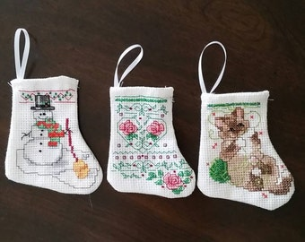 Mini Christmas Stockings Set of Three  ( Choice  F )
