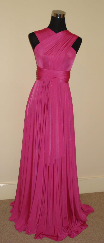 Infinity dress cerise pink bridesmaid dress convertible dress