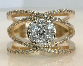 Gorgeous 14k Yellow Gold Diamond Ring