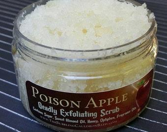 Poison Apple Deadly Scrub - Exfoliating Sugar Scrub - Deadly Apple - Cinnamon Scrub - Clove Scrub - Goth Bath