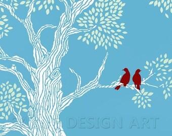 Robin's Red -- 8x10 Tree Art Print