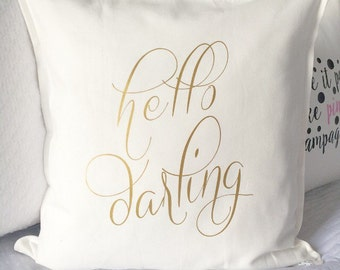 Hello Darling Pillow Cover