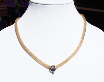 5mm Rose Gold Mesh Necklace with Fancy Bail and Fixings