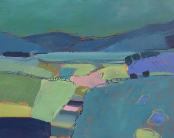 Rolling Hills painting by Diana Davydova