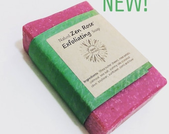 Naked Zen Rose Exfoliating Soap