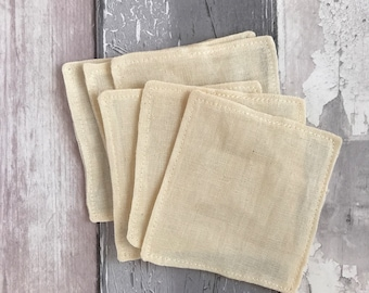 Cleanser Pads - Organic Cotton Muslin - Muslin - Organic - Face Cloth - Eco - Cleansing