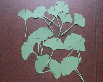 Die Cut Ginkgo Leaves -2c