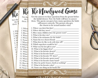 the newlywed game bridal shower game what did the groom say printable rustic burlap bridal shower game bachelorette party games 002