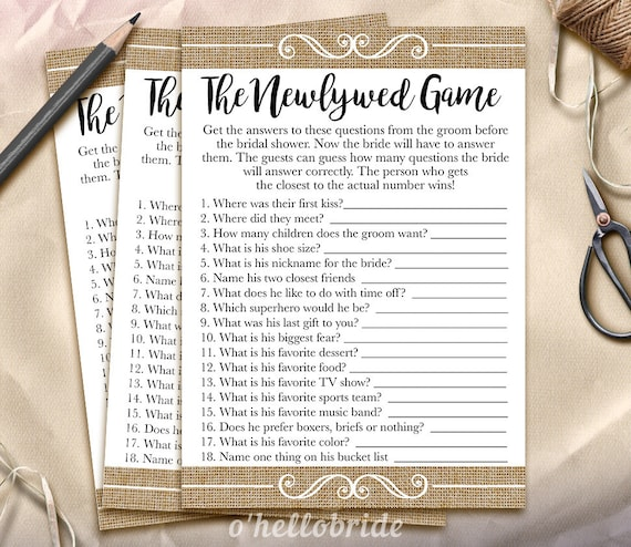The Newlywed Game Bridal Shower Game What Did The Groom Say