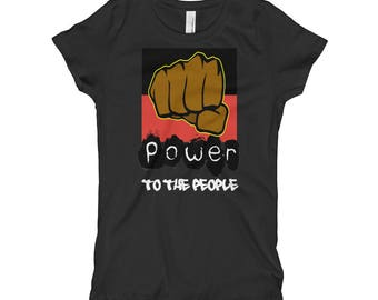 Power To The People Girl's T-Shirt