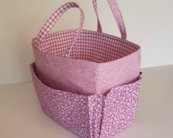 Craft Bag Basket Caddy Bingo Bag - Instant PDF Sewing Pattern Tutorial Download - Easy